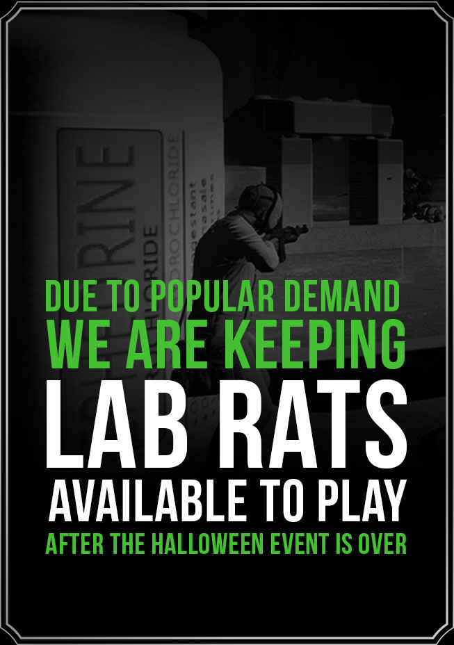 Due to popular demand, we are keeping Lab Rats available to play after the Halloween event is over.