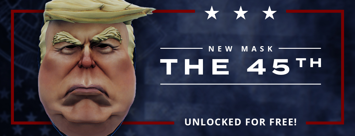 Welp they did it, they added a Trump mask  : paydaytheheist